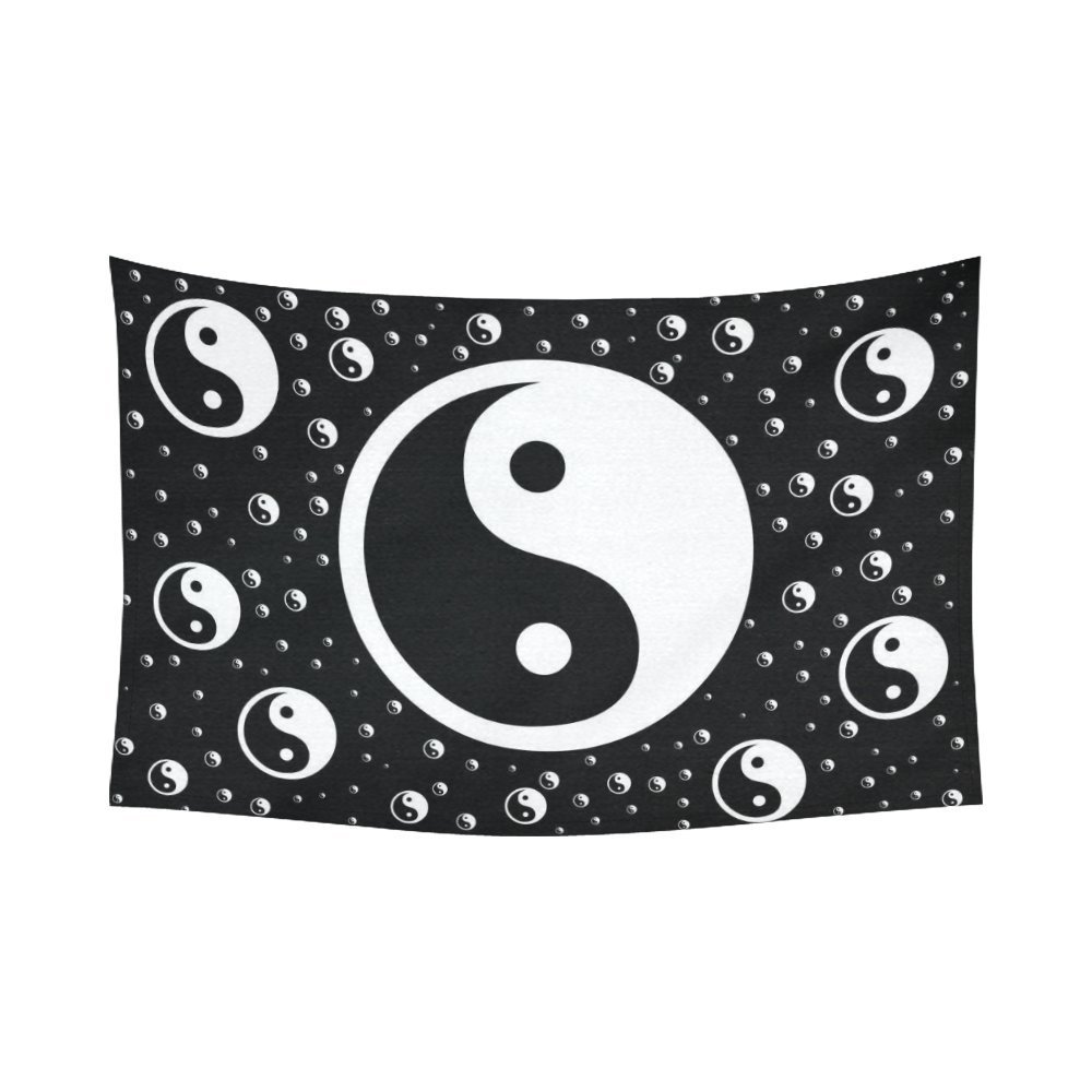PHFZK Asian Wall Art Home Decor, Chinese Symbol of Taoism Yin Yang Tapestry Wall Hanging 80 X 60 Inches