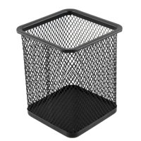 Simple Metal Wire Mesh Rectangle Stationery Pen Pencil Holder Container