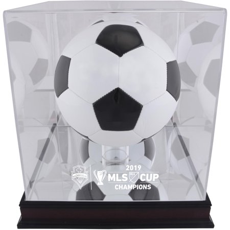 Seattle Sounders FC 2019 MLS Cup Champions Mahogany Team Logo Soccer Ball Display Case - Fanatics Authentic Certified