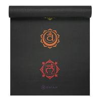 Gaiam Premium Print Yoga Mat, Black Chakra, 6mm