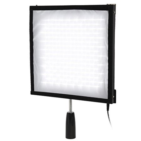 "Polaroid dimmable 256 LED Flexible Light Panel –Slim Moldable 12""x12"" Fabric Mat, Remote Control, AC Power Adapter, Diffuser Filter & Carry Case – for Videography/Photography & All Lighting Needs"
