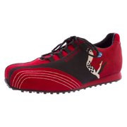 BALLY Women Vento Leather Golf Shoes Red Black