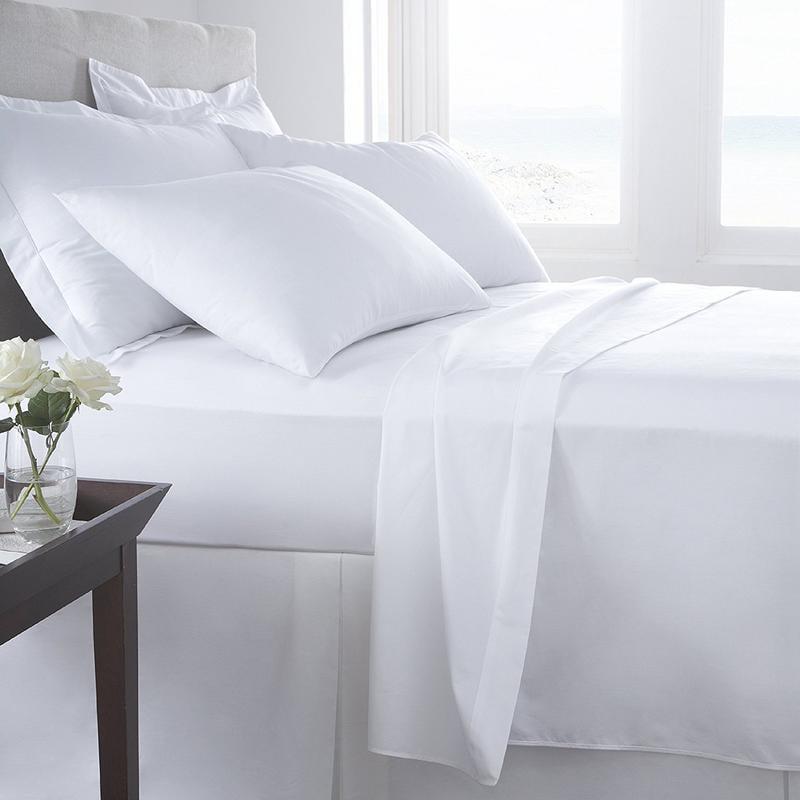 100/% Cotton 4-Piece Bed Sheet Flat Sheet//Fitted Sheet//Pillowcase 400 TC Offer CL