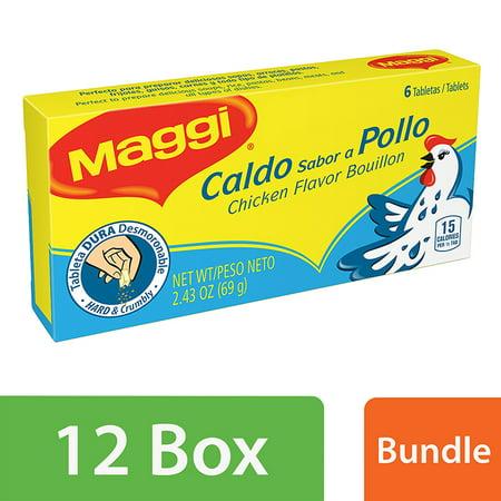 6 Bouillon - (11 Pack) Maggi Bouillon, Chicken Flavor, 6 Ct