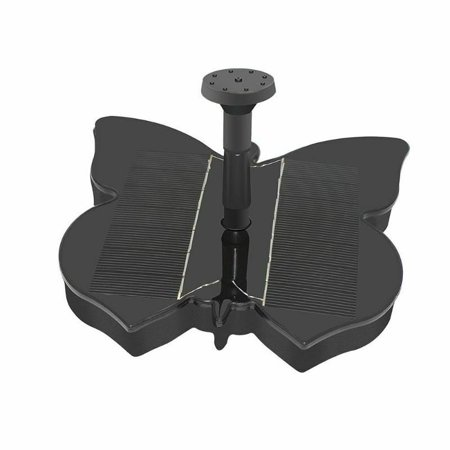 Solar Fountain Pump, Butterfly Shaped Free Standing Bird Bath Fountain Solar Panel Water Pump for Birdbath, Pond, Pool,Garden and Lawn, Black - image 8 of 8