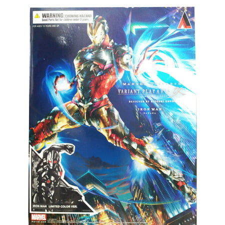 Marvel Universe Iron Man Variant Color Version Kai Play Arts Action Figure