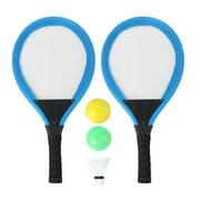 2pcs Badminton Tennis Rackets Mini Kids Outdoor Sports Educational Sports Game Toys-Blue