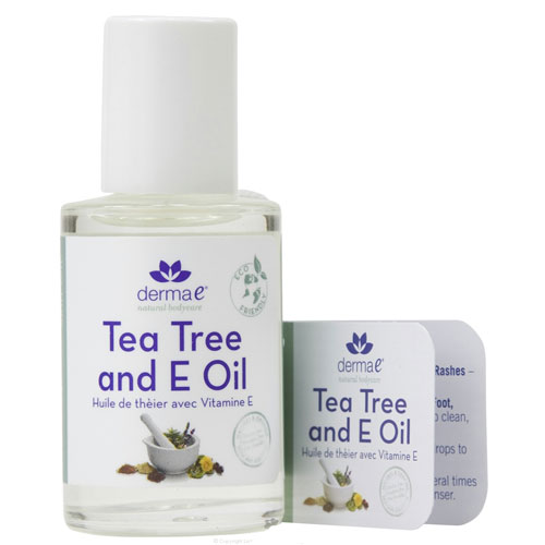 Derma E Tea Tree and Vitamin E Oil, 1 Fl Oz