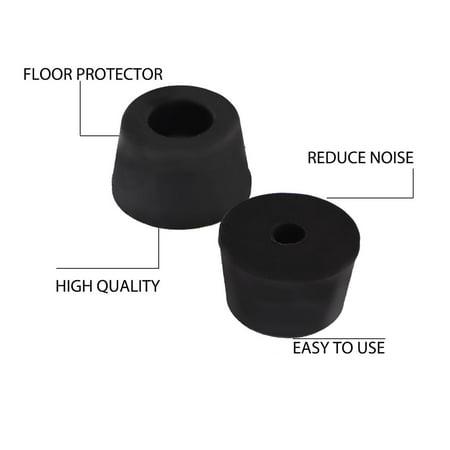 50pcs Rubber Feet Bumper Pad for Amplifier Printer Cabinet Desk Leg, D17x14xH10mm - image 4 of 7