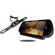 Tadibrothers 7 Inch Mirror with License Plate Backup Camera