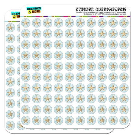 "Starfish Ocean Sea Creature Beach 1/2"" (0.5"") Scrapbooking Crafting Stickers"