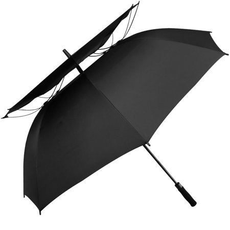 62 Inch Extra Large Automatic Open Windproof Golf Umbrella Vented Double Canopy Quick Dry Umbrella 62 Double Canopy Umbrella