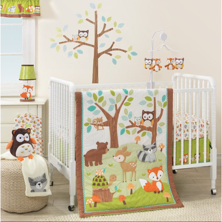 Celestial Baby Bedding - Lambs & Ivy Bedtime Originals Friendly Forest 3 Piece Crib Bedding Set