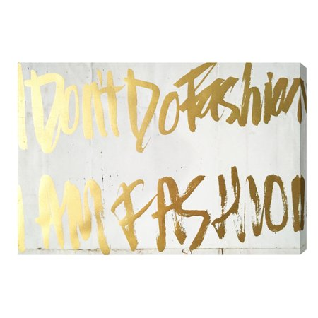 'Golden Fashion Girl' Gold Foil Canvas Art