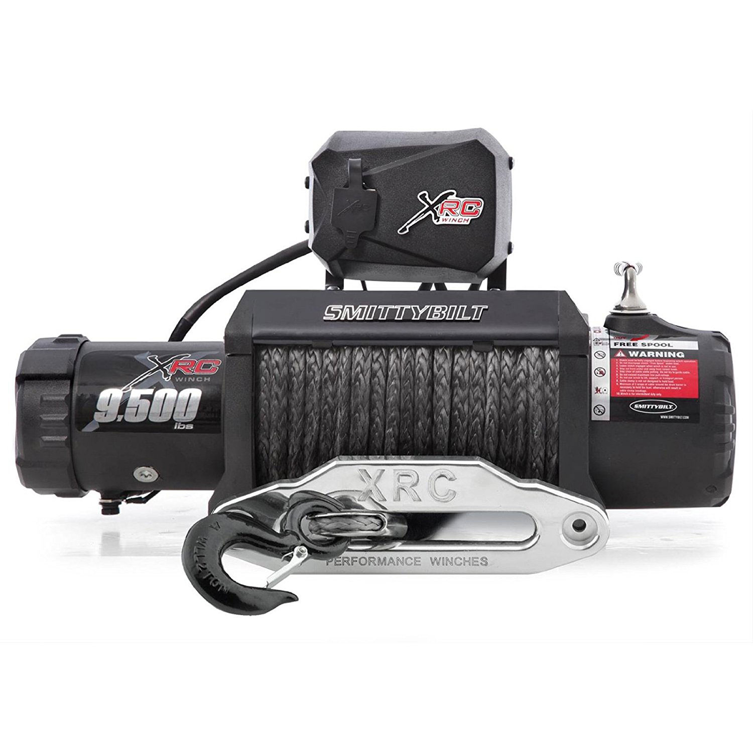 Smittybilt 98495 XRC-9.5 Gen2 Comp 9500 Lb 94 Foot Waterproof ATV Towing Winch