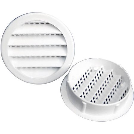 "Walmart Tire Installation Price >> 4"" Round Maurice Franklin Plastic Louvered Vent - Walmart.com"
