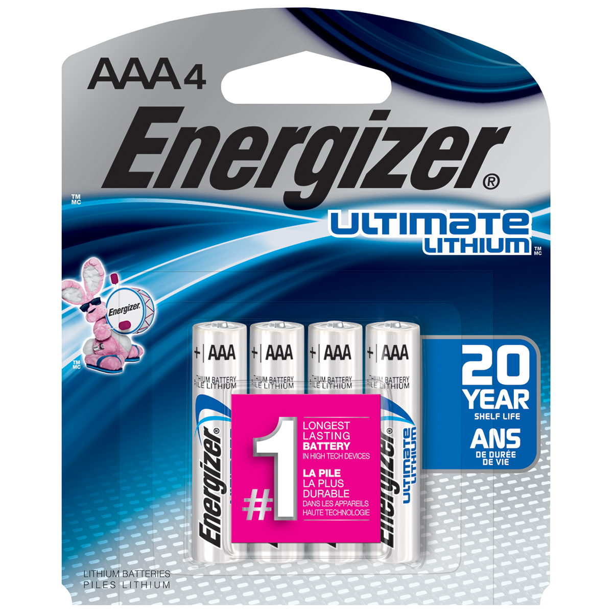 Energizer Ultimate Lithium AAA Batteries, 4 Count