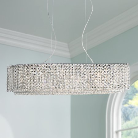 Vienna Full Spectrum Chrome Crystal Linear Pendant Chandelier 32