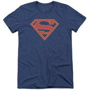 Supergirl Logo Mens Tri-Blend Short Sleeve Shirt