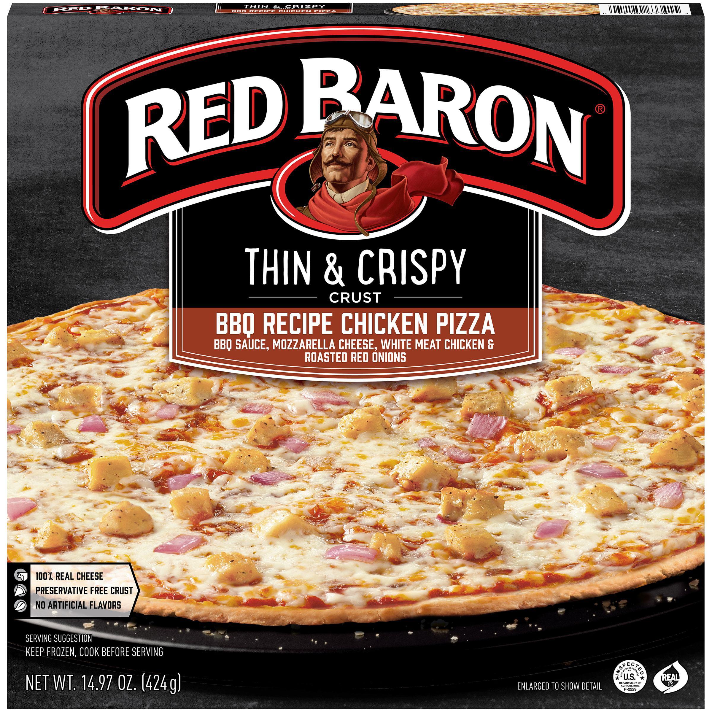 Red Baron® Thin & Crispy Crust BBQ Recipe Chicken Pizza 14.97 oz. Box