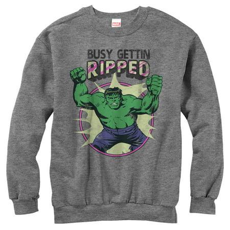 Marvel Women's Hulk Getting Ripped Sweatshirt