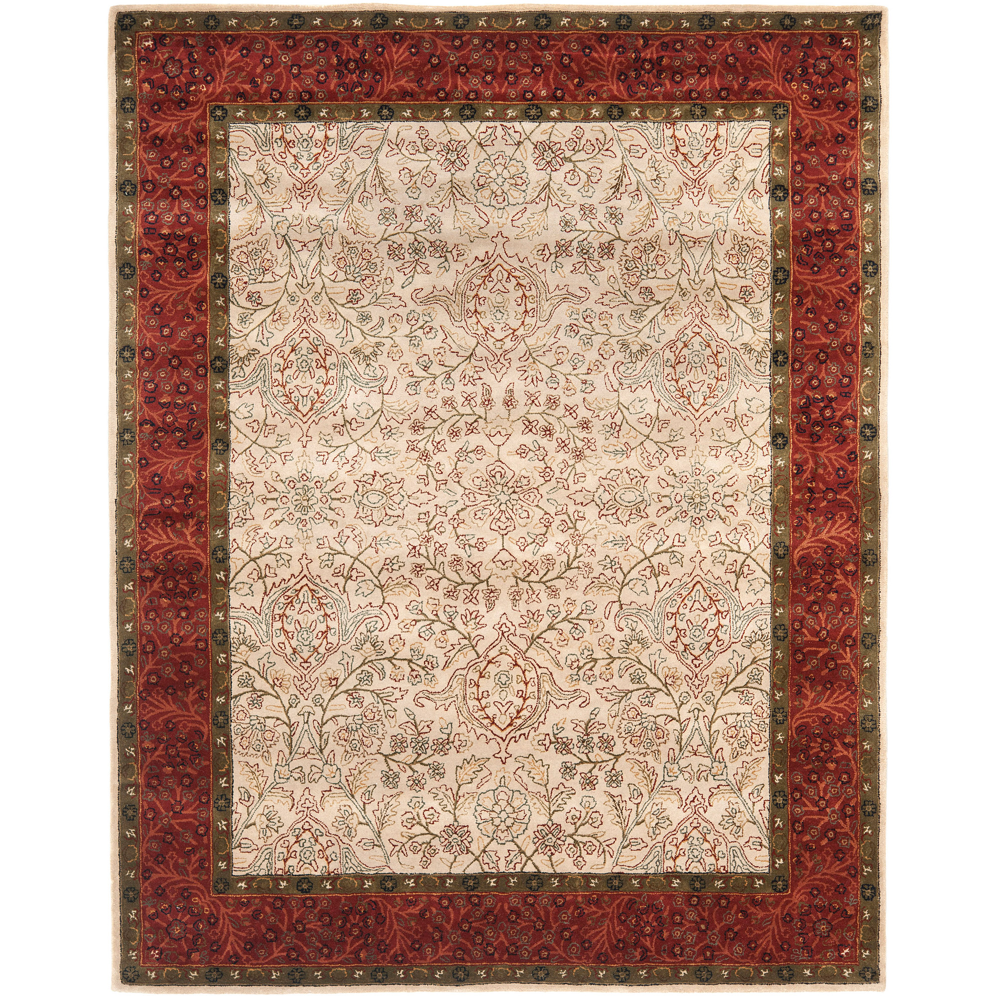 Safavieh Persian Legend Leandre Hand-Tufted New Zealand Wool Area Rug, Ivory/Rust