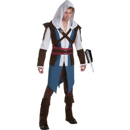 Assassin's Creed IV: Black Flag Edward Kenway Classic Mens Costume (Black Flag Assassin's Creed Costume)