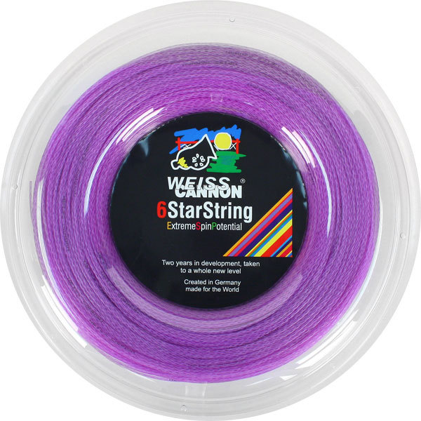 6 Starstring Supercharged 16G Reel Tennis String