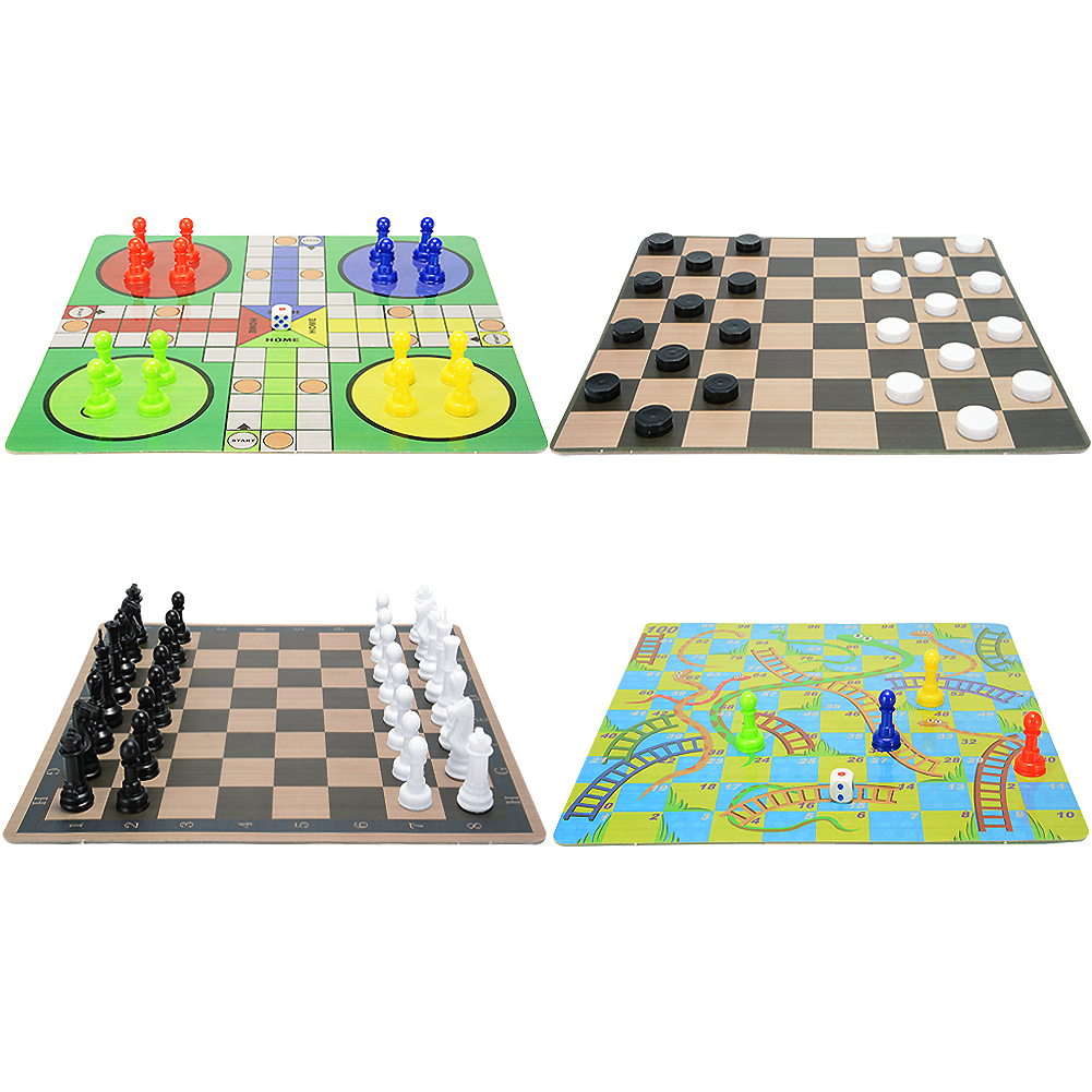 4-In-1 Board Game Toy Chess Game Toy Set for Kids Learning and Educational Toys