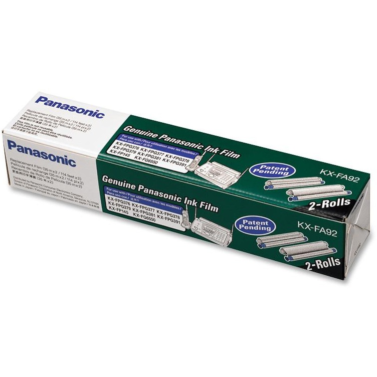 Panasonic, PANKXFA92, KXFA92 Fax Toner Cartridge, 2 / Box
