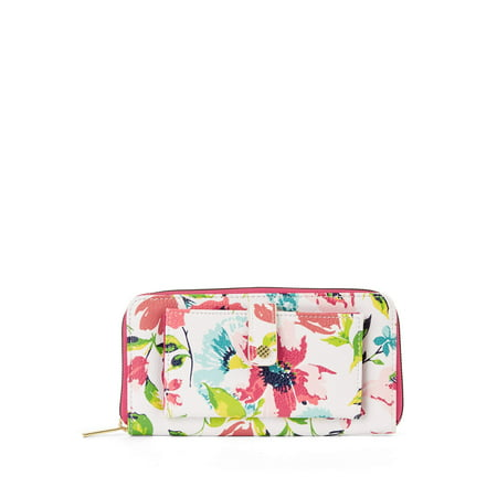 Time and Tru Victoria Wallet (Floral Womens Bag)