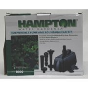 Hampton Water Gardens Fountain Pump Kit 1000 Gph