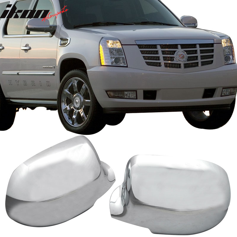 Fits 02-06 Cadillac Escalade Ext Chrome Side Mirrors Covers
