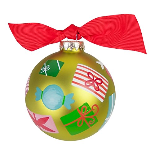 Wrapped Gifts Glass Ornament