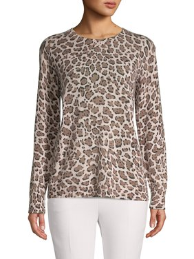 Cashmere Animal-Print Sweater
