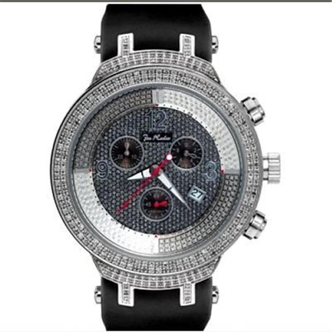 Joe Rodeo JJM7 Master Man Diamond Watch, Silver Dial with Black Band