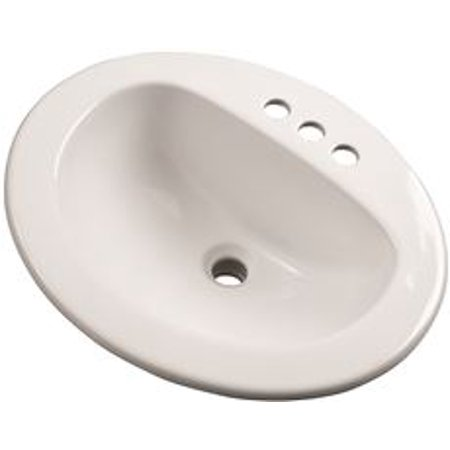 Gerber Maxwell Oval, 21 In. X 17-7/8 In., 4 In. Center To Center Drop-In Lavatory Sink, White ()