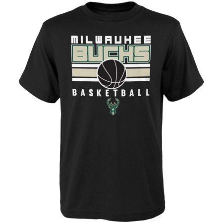 Youth Black Milwaukee Bucks Alternate T-Shirt