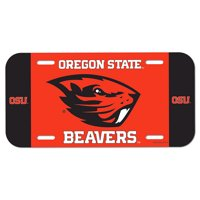 Oregon State Beavers WinCraft Plastic License Plate - No Size