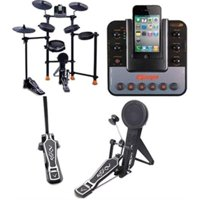 JAMMIN PRO All-In-One Electronic Drum Set For Ipod/iphone W/metronome & Real Drum Feeling