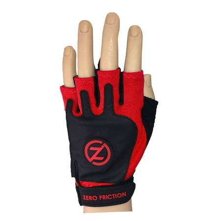 Rigger Orange Glove (Men's Strap On Fitness Gloves, Pair, Red)