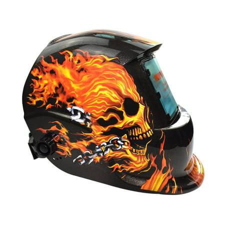 Solar Powered Auto Darkening TIG MIG MMA Electric Welding Mask Welder Cap - image 8 of 9