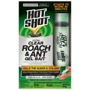 Hot Shot Ultra Clear Roach & Ant Gel Bait, Insect Killer, 2.5-Ounces
