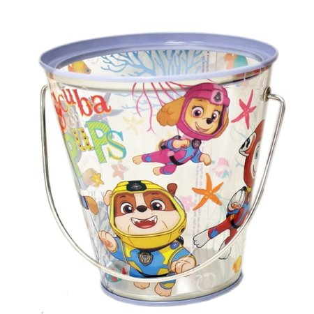 Party Favor Pails - Paw Patrol - Collectible Plastic Pail - Scuba Pups - 1pc