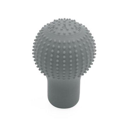 Gray Silicone Round Shape Non Slip Car Gear Head Shift Knob Cover (Round Head Shape)