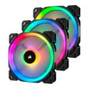 3 Pk Corsair LL Series 120mm Dual Light Loop RGB LED Fan