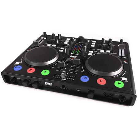 EMB - DJX7 - PRO DUAL MP3 Mixer DJ Scratch Midi Controller + Virtual
