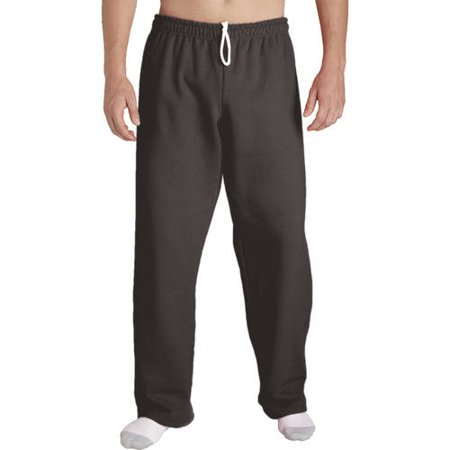 Big Mens Open Bottom Pocketed Jersey Pant, (Navy Bell Bottom Pants)