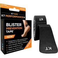 """KT Tape Precut 3.5"""" Perfomance Blister Prevention Tape - 30 Strips - Black"""