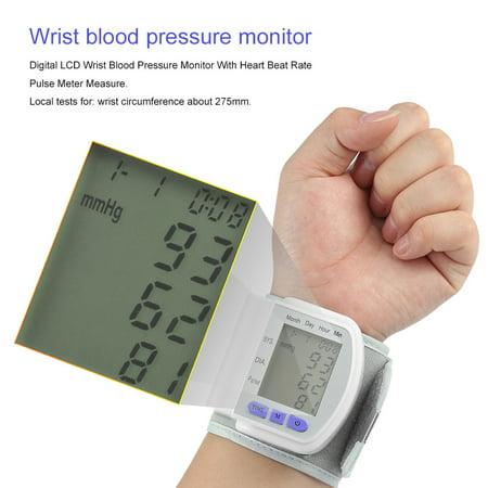 Digital LCD Automatic Wrist Blood Pressure Measurement Pulse